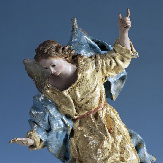 Angel Visiting Saint Joseph in Dream, Painted Terracotta Nativity Figurine-Francisco Salzillo Y Alcazar-Giclee Print