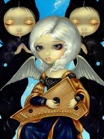 Angel with a Psaltery-Jasmine Becket-Griffith-Art Print