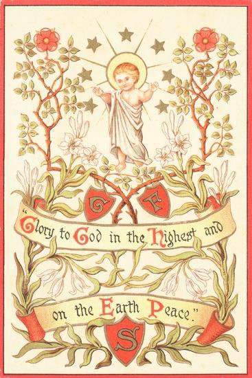 Angel with Arms Raised, Christmas Card--Giclee Print