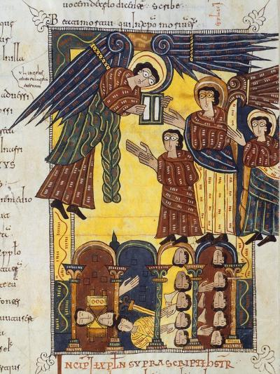 Angel with Book, Miniature from Review of the Apocalypse of Saint Beatus of Liebana--Giclee Print