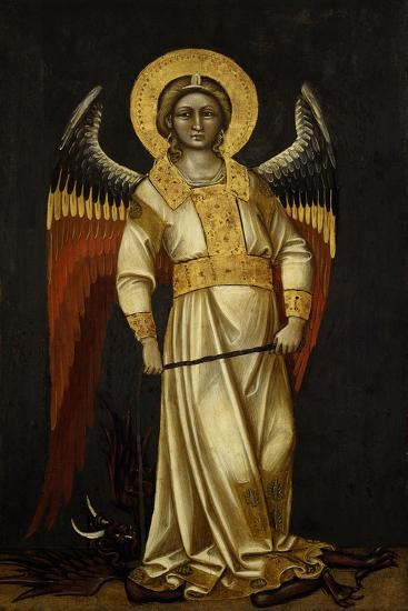 Angel with Demon on Chain by Guariento (Active 1338-1367 or 1370), Tempera on Panel, Circa 1354--Giclee Print