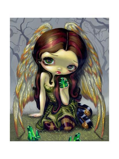 Angel with Emeralds-Jasmine Becket-Griffith-Art Print