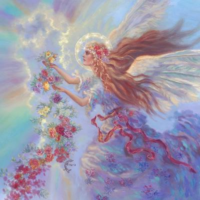 Angel with Flower Garland-Judy Mastrangelo-Giclee Print