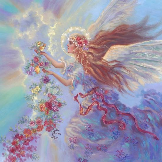 Angel with Flower Garland-Judy Mastrangelo-Giclee Print