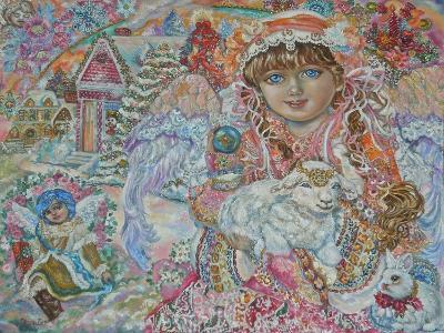 Angel with Lamb of God-Yumi Sugai-Giclee Print