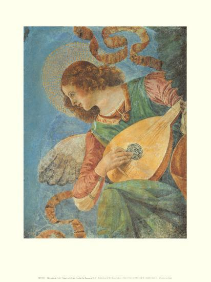 Angel with Lute-Melozzo da Forl?-Art Print