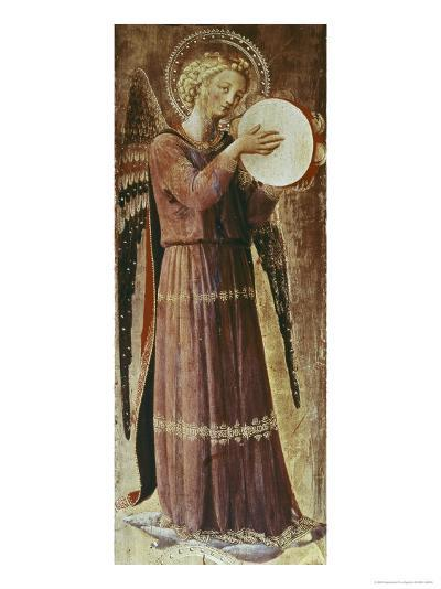 Angel with Tambourine-Fra Angelico-Giclee Print