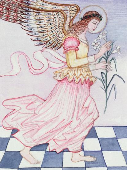Angel with Tiger Lily, 1995-Gillian Lawson-Giclee Print