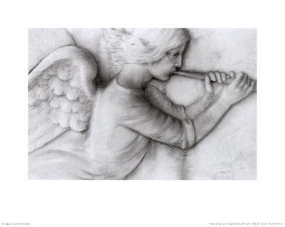 Angel with Trumpet-Lilo Raymond-Art Print