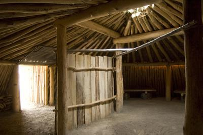 Interior of the Traditional Mandan Dome Shaped Lodge