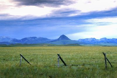 Landscape around the Rocky Mountains, Blackfeet Reservation, Montana