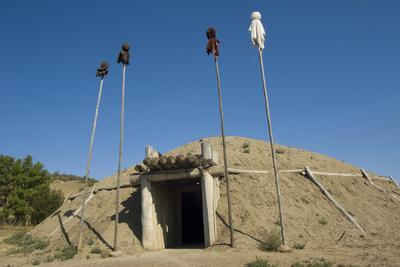 Mandan Earth Lodges at On-A-Slant Indian Village, South Dakota