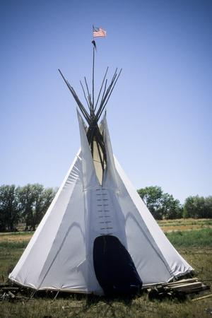 Tipi with American Flag, Uintah and Ouray Indian Reservation, Utah
