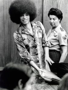 Angela Davis (B1944) American Black Activist, Here in 1972 During Her Trial