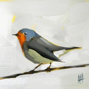 Robin on Wire by Angela Moulton
