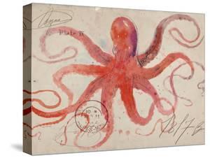 Nautical Octopus - Horizontal by Angela Staehling