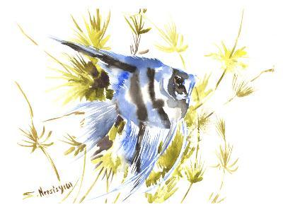 Angelfish Aquarium-Suren Nersisyan-Art Print