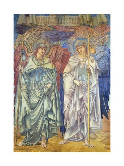Angeli Ministrantes (Design for a Window in Salisbury Cathedral)-Edward Burne-Jones-Giclee Print