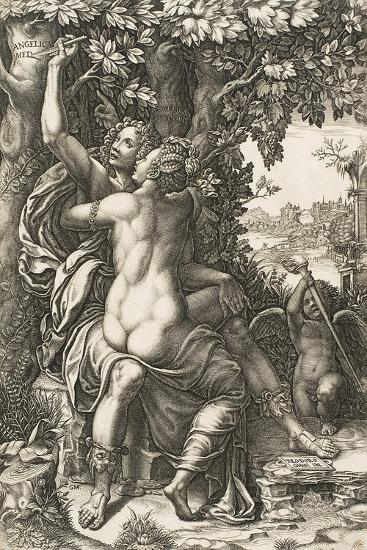 Angelica and Medoro, C.1570-Giorgio Ghisi-Giclee Print