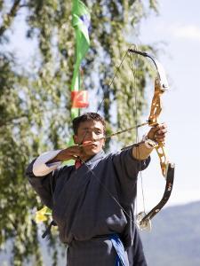 Archery, Bhutan's National Sport, Paro, Bhutan,Asia by Angelo Cavalli