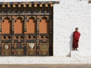 Buddhist Monk, Punakha Dzong, Punakha, Bhutan by Angelo Cavalli