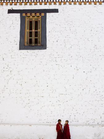 Buddhist Monks, Paro Dzong, Paro, Bhutan by Angelo Cavalli