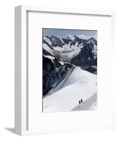 Climbers on Mont Blanc, Aiguille Du Midi, Mont Blanc Massif, Haute Savoie, French Alps, France, Eur
