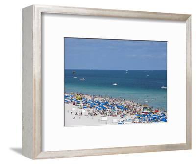 Crowded Beach, South Beach, Miami Beach, Florida, United States of America, North America
