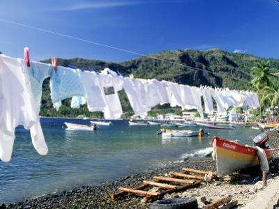 Drying Laundry on the Beach, St. Lucia