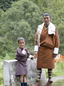 Father and Son, Trongsa, Bhutan by Angelo Cavalli