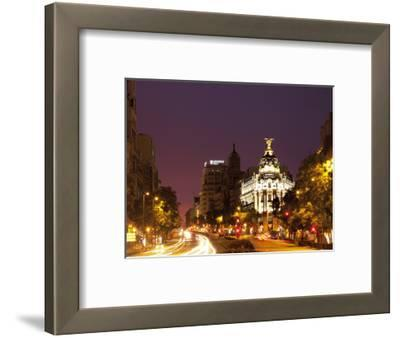 Gran Via and Calle De Alcala, Madrid, Spain, Europe