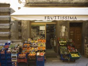 Grocery Store, Cortona, Tuscany, Italy, Euope by Angelo Cavalli
