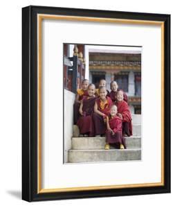 Group of Young Buddhist Monks, Karchu Dratsang Monastery, Jankar, Bumthang, Bhutan by Angelo Cavalli