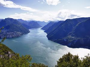 Lake of Lugano, Lugano, Canton Tessin, Switzerland, Europe by Angelo Cavalli