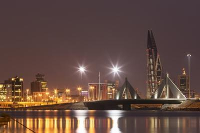 Manama at Night, Bahrain, Middle East by Angelo Cavalli