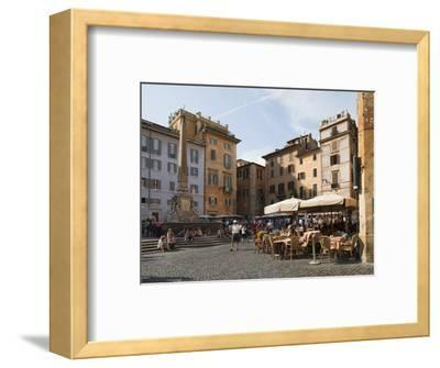 People at Outside Restaurant in Pantheon Square, Rome, Lazio, Italy, Europe