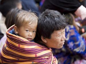 Pilgrims, Buddhist Festival (Tsechu), Trashi Chhoe Dzong, Thimphu, Bhutan by Angelo Cavalli