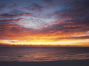 Sunrise over the Atlantic Ocean in Miami Beach, Florida, United States of America, North America by Angelo Cavalli