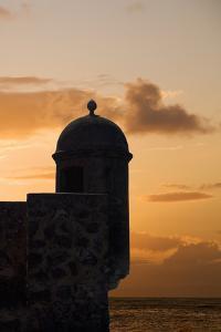 Sunset, Fort San Felipe, Puerto Plata, Dominican Republic, West Indies, Caribbean, Central America by Angelo Cavalli