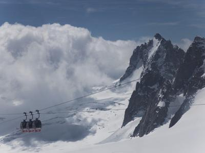 The Cable Car Between Italy and France Through the Mont Blanc Massif, Aiguille Du Midi, Chamonix, H