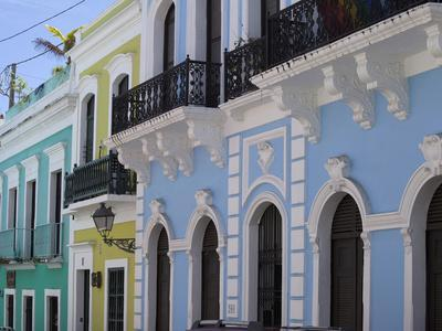 The Colonial Town, San Juan, Puerto Rico, West Indies, Caribbean, USA, Central America