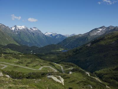The Road to Splugen Pass, Canton Graubunden, Swiss Alps, Switzerland, Europe