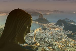 Head of Statue of Christ the Redeemer, Corcovado, Rio De Janeiro, Brazil, South America by Angelo
