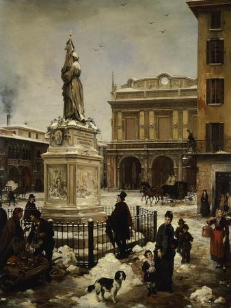 Piazza Della Loggia in Snow