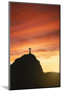 Statue of Christ the Redeemer at Sunset, Corcovado, Rio De Janeiro, Brazil, South America by Angelo