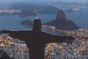 Statue of Christ the Redeemer, Corcovado, Rio De Janeiro, Brazil, South America by Angelo
