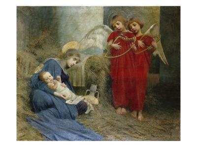 Angels and Holy Child-Marianne Stokes-Giclee Print