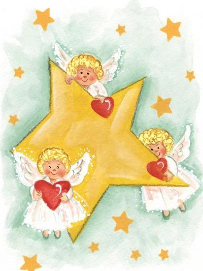 Angels and Stars-Beverly Johnston-Giclee Print
