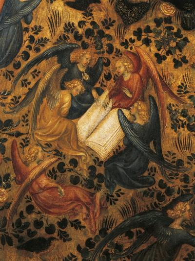 Angels Arguing, Detail from Madonna of Rose Garden, 1420-1435, Attributed to Stefano Da Verona--Giclee Print