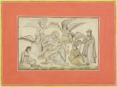 Angels Attend Mary and Jesus, C.1665--Giclee Print
